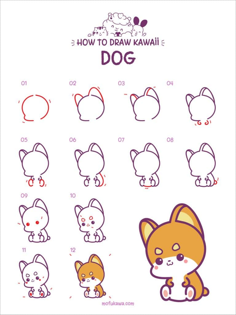 How To Draw A Cute Dog Step by Step