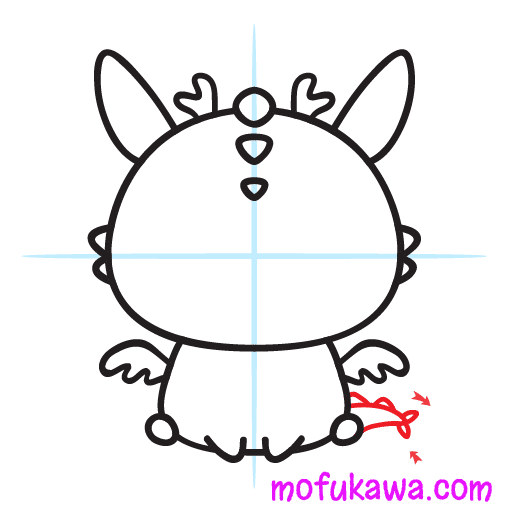 How To Draw A Cute Dragon Step 10