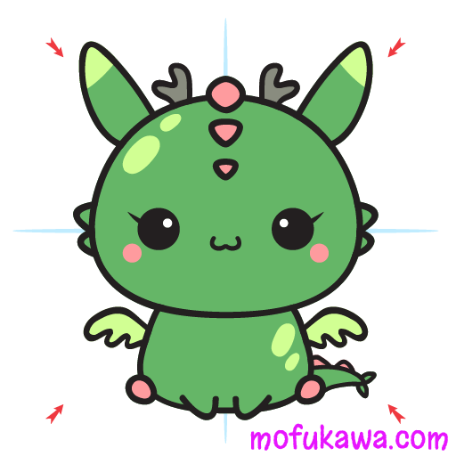 How To Draw A Cute Dragon Step 12