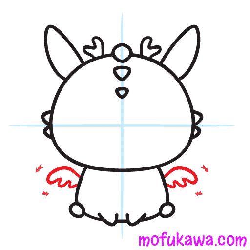 How To Draw A Cute Dragon Step 9