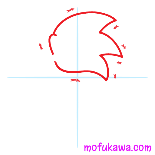 How To Draw Sonic The Hedgehog Step 1