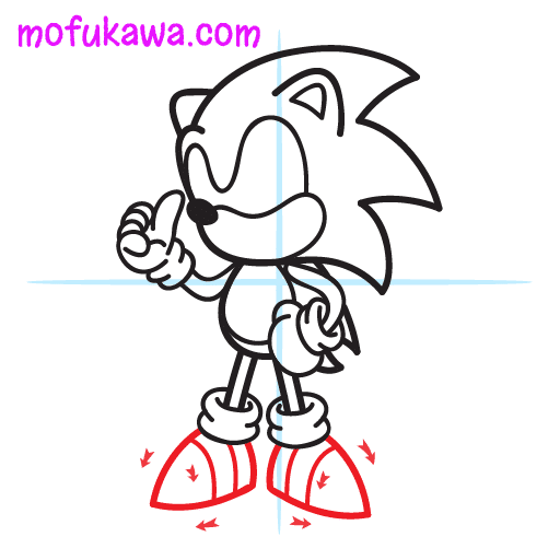 How To Draw Sonic The Hedgehog Step 10