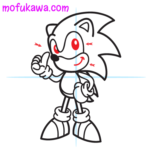 How To Draw Sonic The Hedgehog Step 11