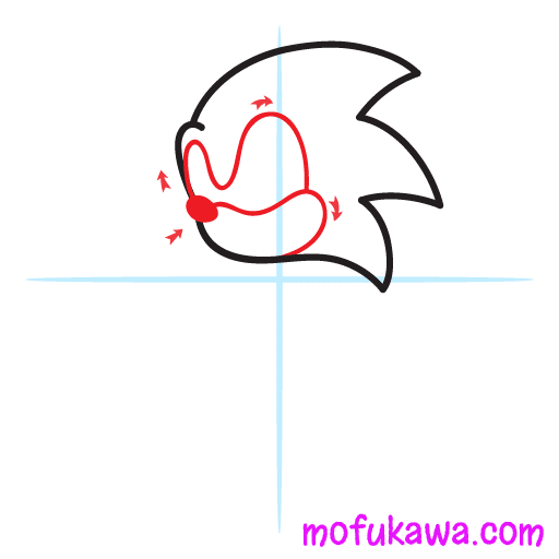 How To Draw Sonic The Hedgehog Step 2