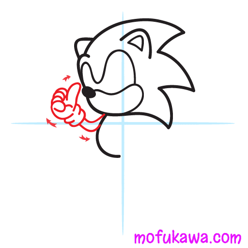How To Draw Sonic The Hedgehog Step 5