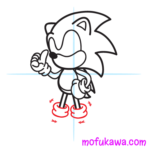How To Draw Sonic The Hedgehog Step 9