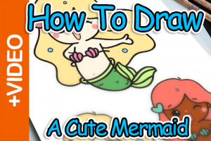 How To Draw A Mermaid Thumbnail