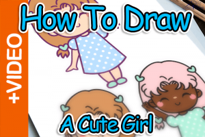 How To Draw A Cute Girl Thumbnail