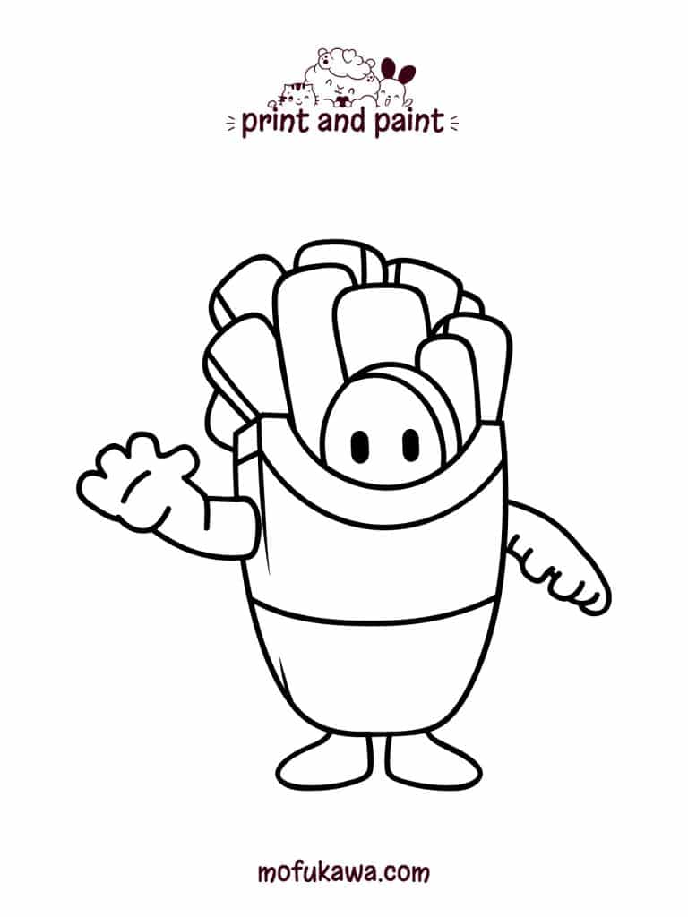 Fall Guys Coloring Page