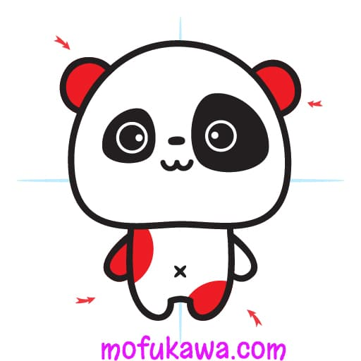 How To Draw A Cute Panda Step 10