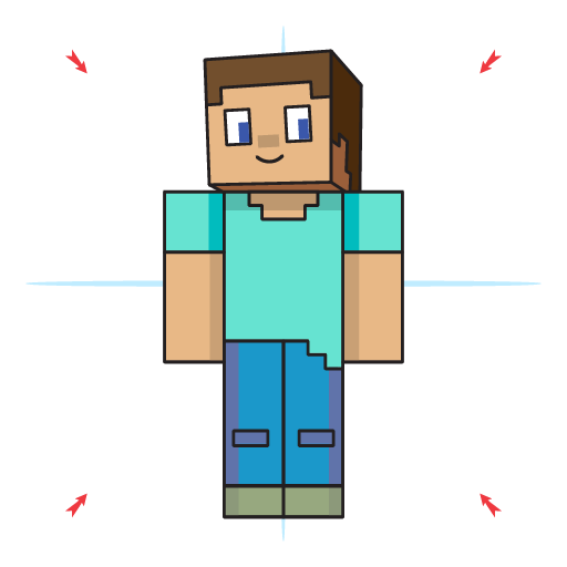 How To Draw Steve From Minecraft Step 18