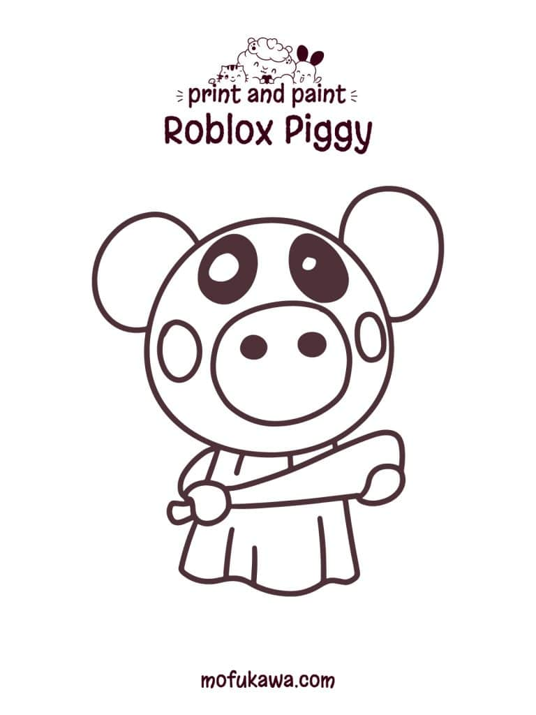 Roblox Piggy Coloring Page