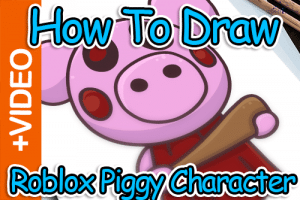 How To Draw Roblox Piggy Character - Thumbnail