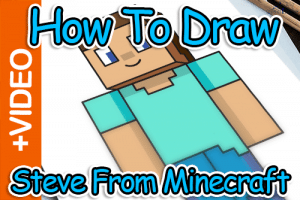 How To Draw Steve From Minecraft Thumbnail