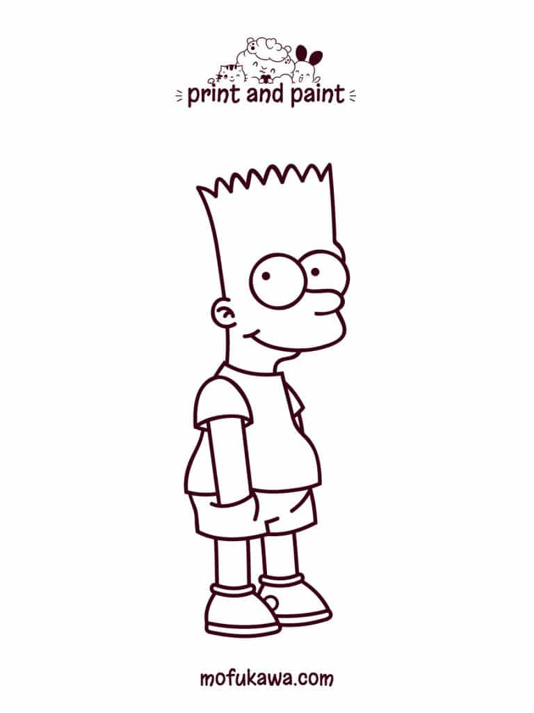 bartsimpson-coloring-page