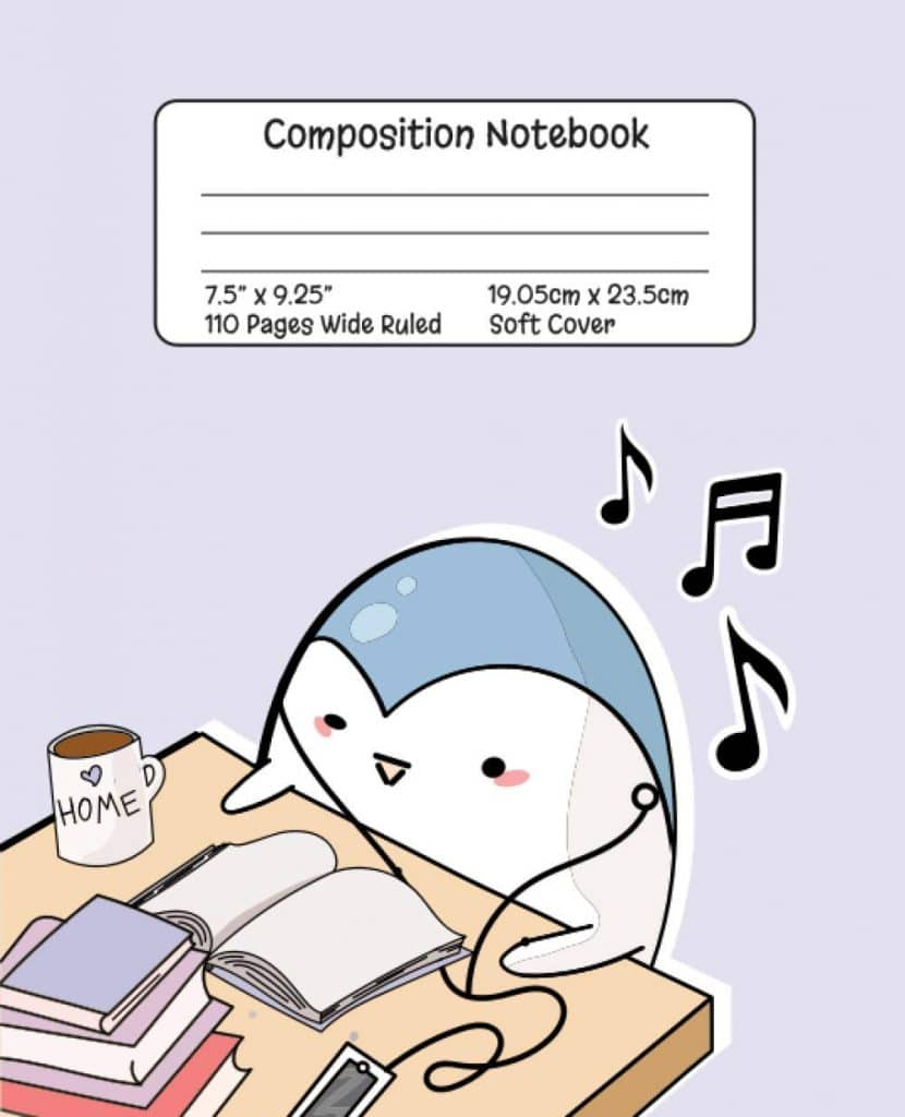Composition Wide-Ruled Penguin Notebook