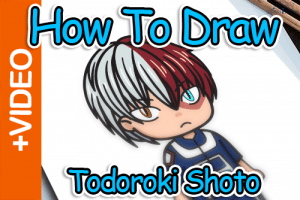 How To Draw Todoroki Shoto Website Thumbnail