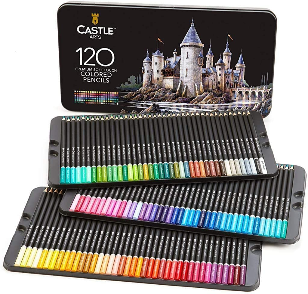 Castle Art Colored Pencils