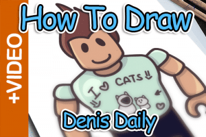 How To Draw Denis Daily From Roblox – Super Easy