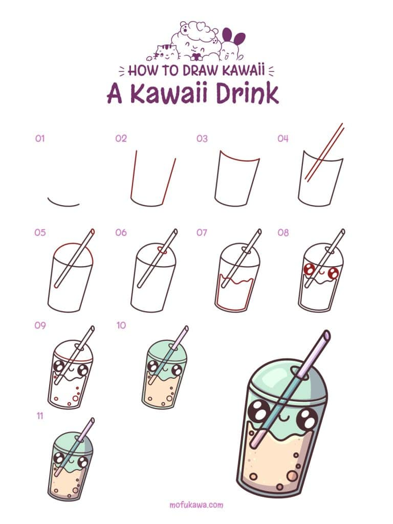 howtodrawakawaiidrink-stepbystep
