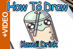 How To Draw A Kawaii Drink