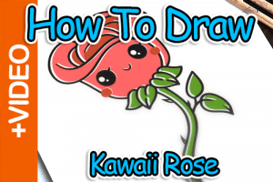 How To Draw A Rose – Easy Kawaii Style