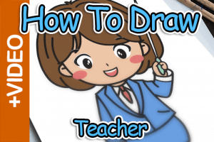 How To Draw A Teacher – Kawaii Style