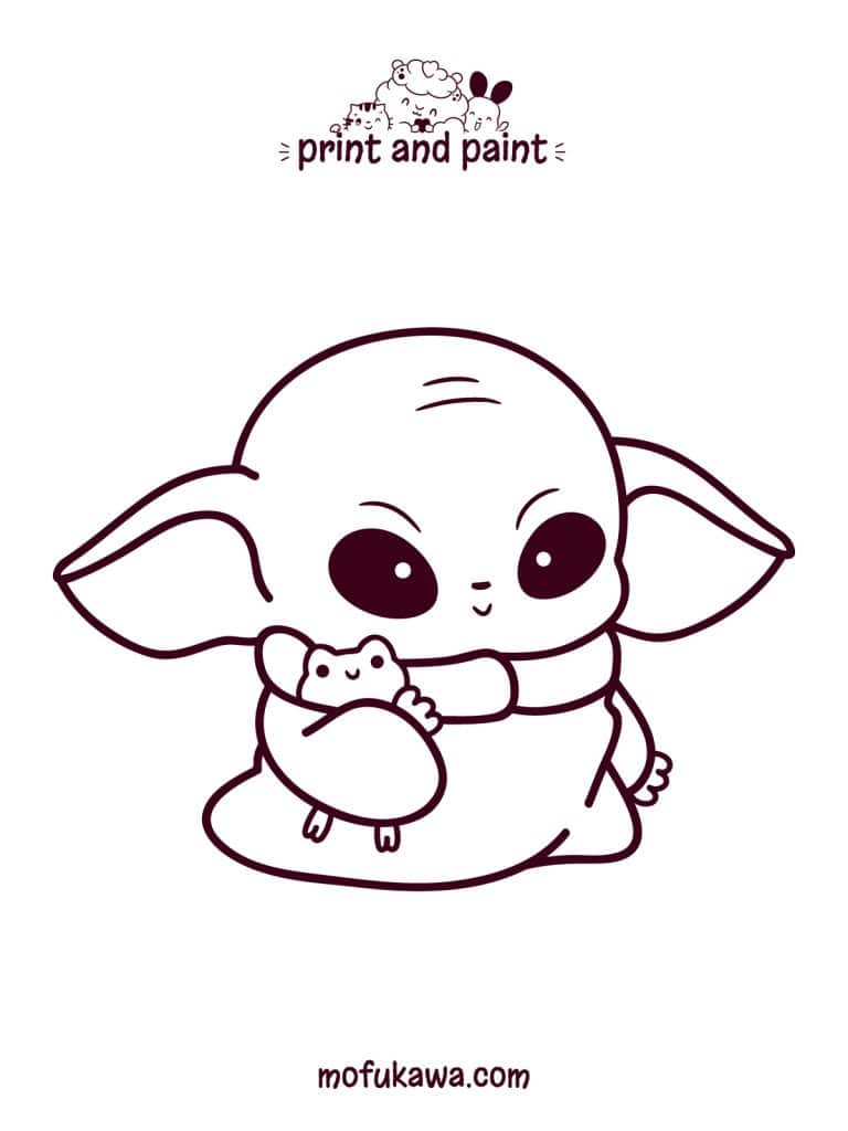 How To Draw Baby Yoda Kawaii Art Easy Step By Step Guide
