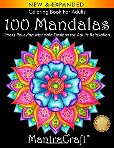 100 Mandalas: Stress Relieving Mandala Designs for Adults Relaxation