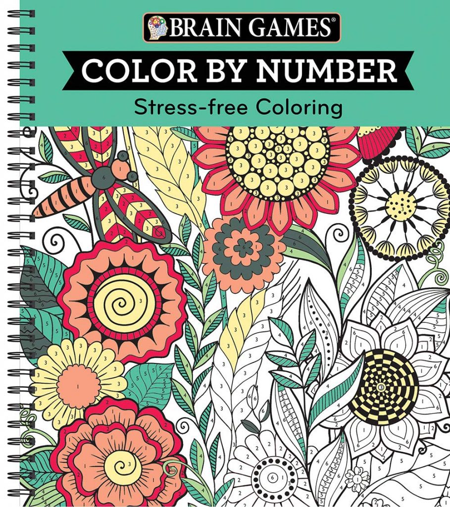 Brain Games Color By Number Stress Free Coloring Green