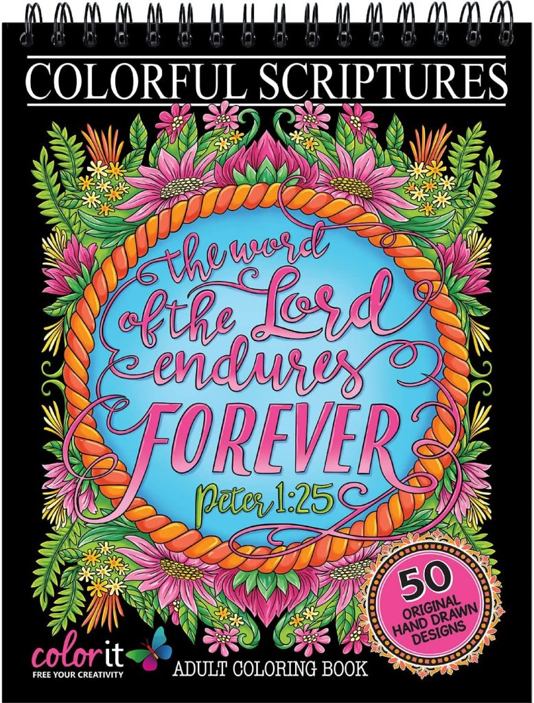 Colorful Scriptures Christian Adult Coloring Book