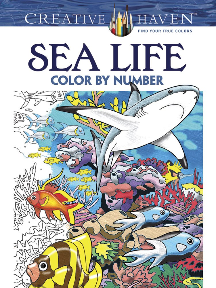 Creative Haven Color by Number Sea Life