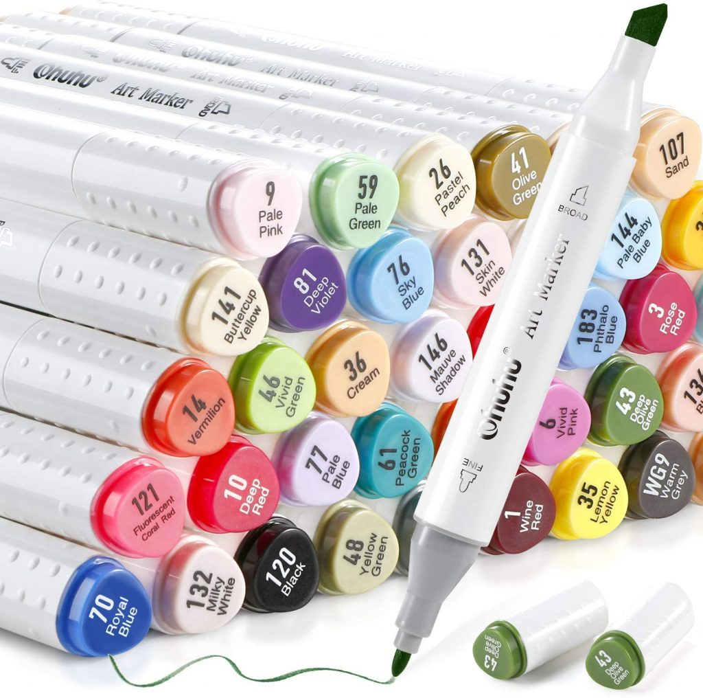 Ohuhu Chisel and Fine Markers for Manga