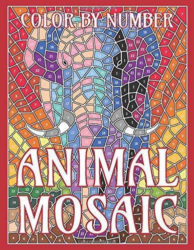 Sunlife Drawing Color By Number Animal Mosaic