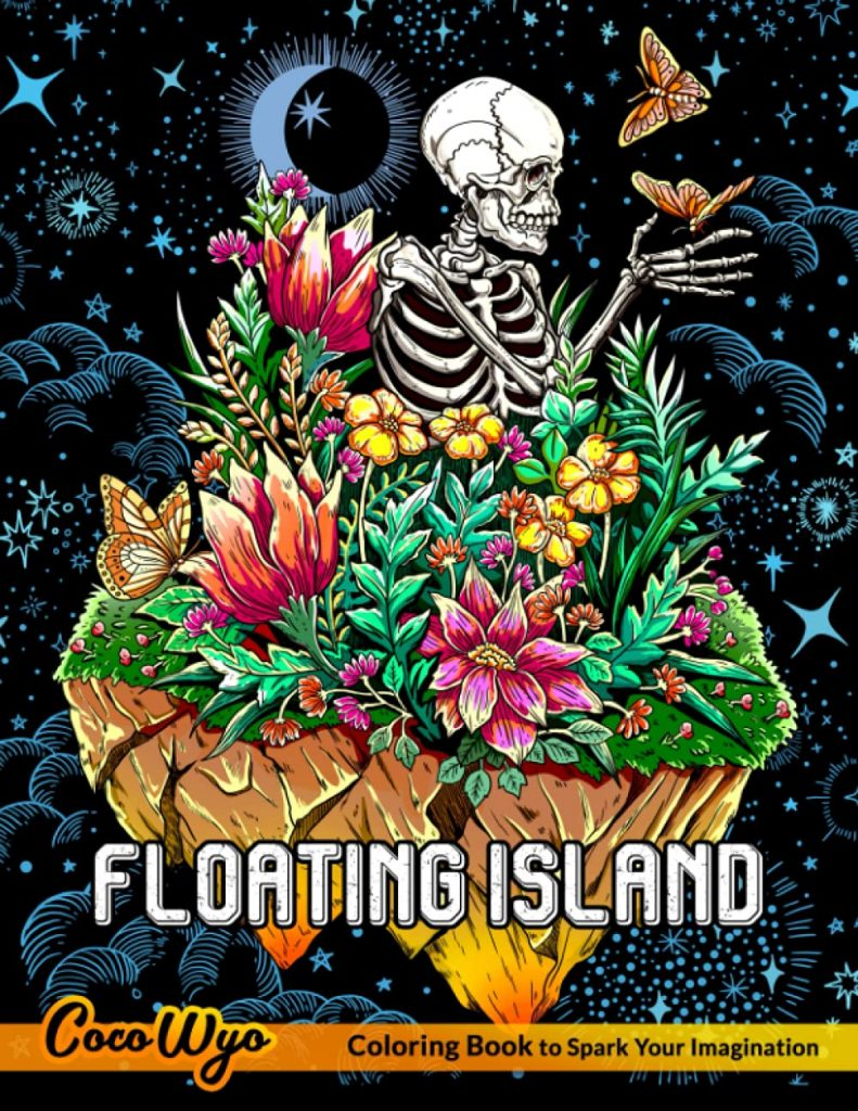 Floating Island Coloring Book by Coco Wyo